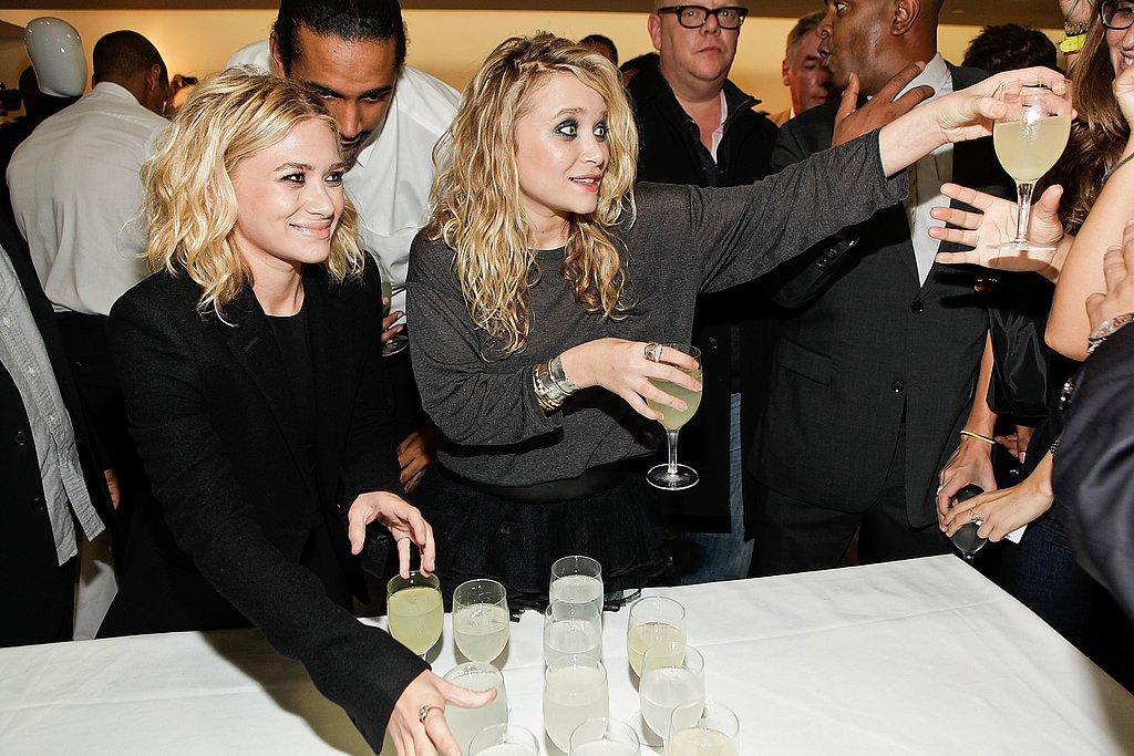 Mary Kate and Ashley Olsen at Bergdorf Goodman