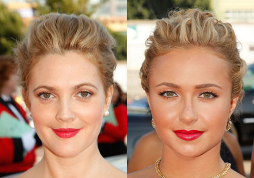 Pictures of Drew Barrymore and Hayden Panettiere Looking Alike at the 2009 Emmys