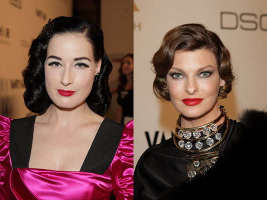 Who Wore the Retro Look Better at amfAR?