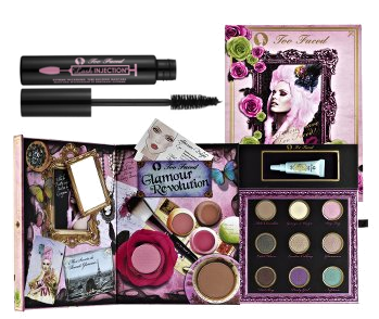 Tuesday Giveaway! Too Faced Glamour Revolution, Brown Lash Injection, and Lash Lights Mascara