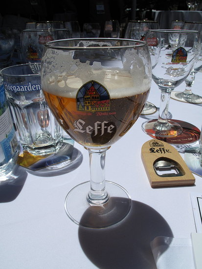 A Leffe Blonde was wildly refreshing on the warm afternoon.