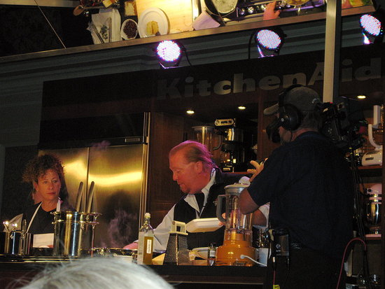 Nancy Silverton and Mario Batali at the 2009 Food & Wine Classic