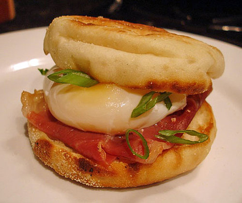 Poached Egg and Prosciutto Muffinwich