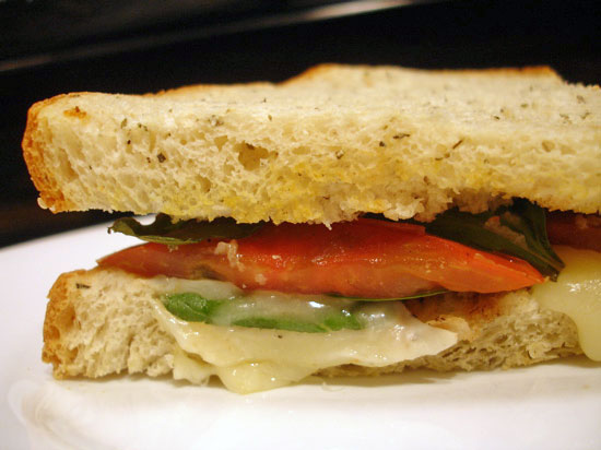 Recipe For Caprese Sandwich With Heirloom Tomatoes