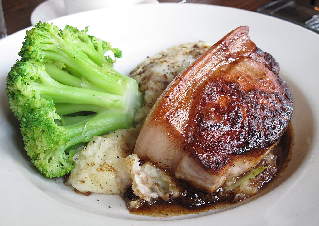 Pork Chop, Bubble and Squeak, and Broccoli