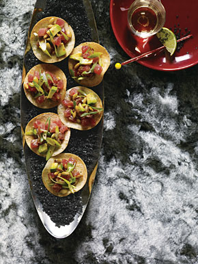 Mexican Tuna Tostadas