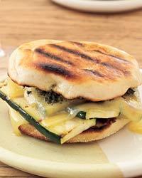 Fast & Easy Recipe For Grilled Gruyere & Zucchini Pesto Sandwiches