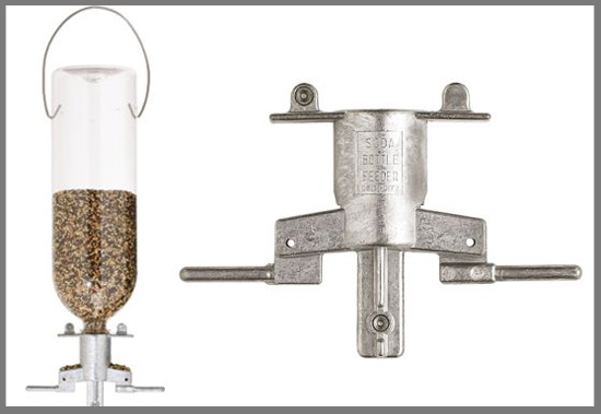 Simple Soda Bottle Bird Feeder Isn't Squirrel-Friendly