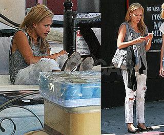 Photos of Blonde Jessica Alba in LA