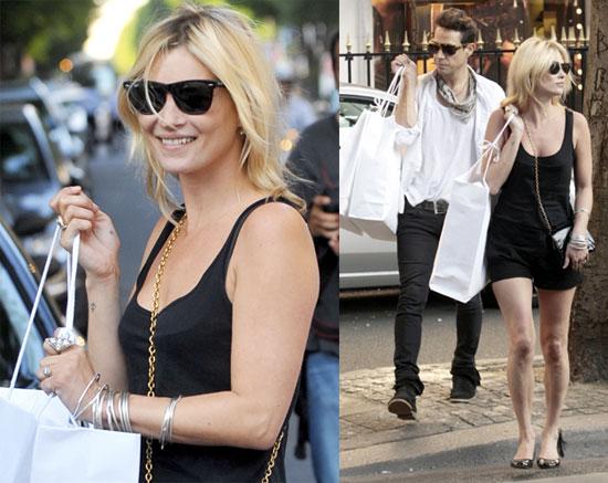 Photos of Kate Moss and Jamie Hince Shopping at Prada