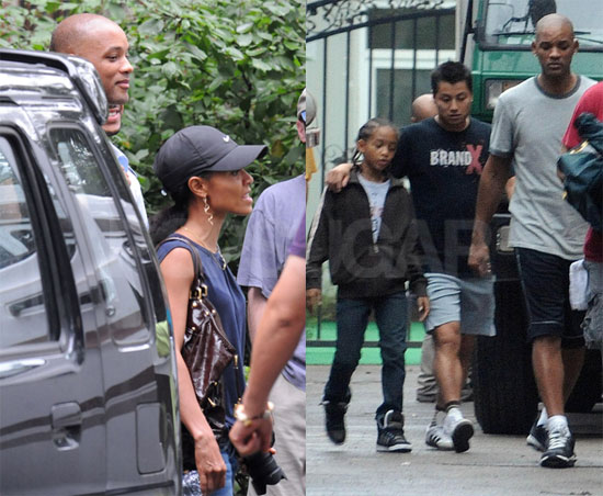 Photos of Will Smith, Jada Pinkett Smith, Jaden Smith at Kung Fu Kid in China