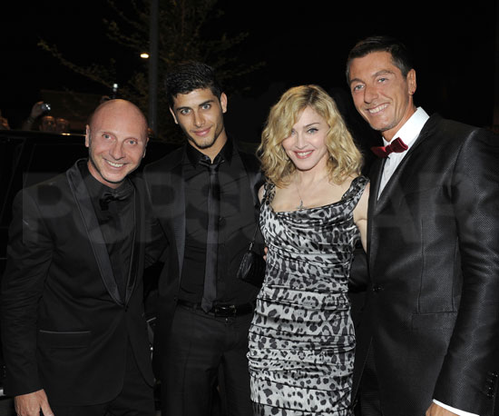 Photo Slide of Madonna, Jesus Luz, Domenico Dolce and Stefano Gabbana at Dinner in Milan