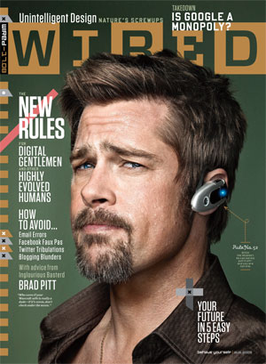 Photos and Quotes from Brad Pitt in Wired Magazine; Says Don't Take Your Phone in the Bathroom or Take Photos of a Wife's Butt
