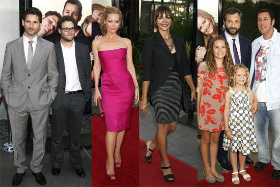 Photos of Adam Sandler, Seth Rogen, Judd Apatow, Leslie Mann, Jonah Hill, Eric Bana at the Premiere of Funny People in LA