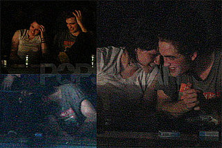Photos of Robert Pattinson and Kristen Stewart Reportedly Kissing at Kings of Leon Concert with Eclipse Cast