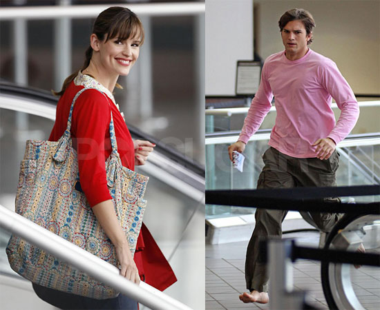 Photos of Ashton Kutcher and Jennifer Garner at LAX