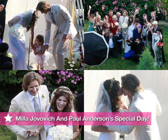 Milla Jovovich and Paul Anderson's Special Day!