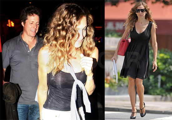 Photos of Sarah Jessica Parker, Hugh Grant Out to Dinner in NYC