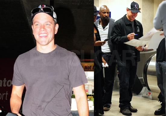 Photos of Matt Damon at LAX