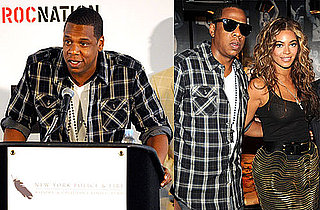 """Photos of Jay-Z and Beyonce Announcing His """"Answer the Call"""" Concert, Attending a Grizzly Bear Concert at McCarren Park Pool"""