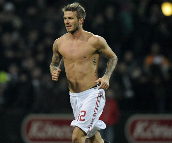 Shirtless Bracket Pop's Pick: David Beckham