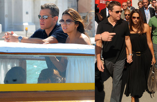 Photos of Matt Damon in Italy
