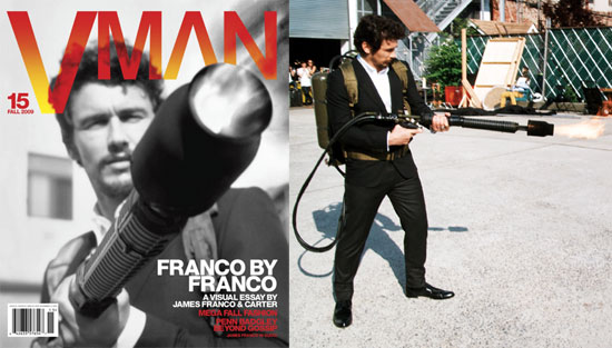 Photos of James Franco on the Cover of October's V Man