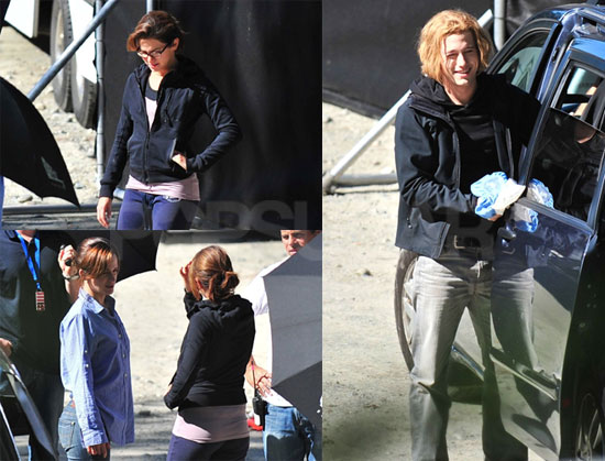 Photos of Injured Jackson Rathbone, Elizabeth Reaser, Nikki Reed On the Set of Eclipse