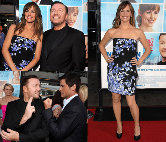 Photos and Video of Jennifer Garner, Ricky Gervais, Rob Lowe at The Invention of Lying LA Premiere and on Jay Leno Show 2009-09-22 10:00:32