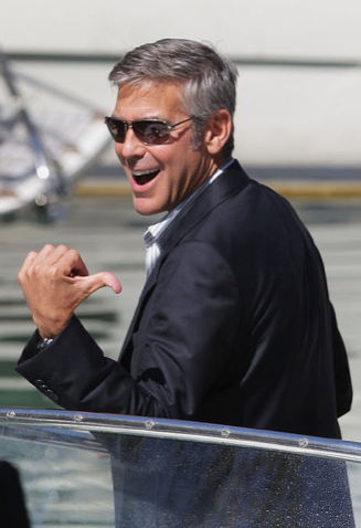 Photos of George Clooney Filming A Very Private Gentleman in Italy