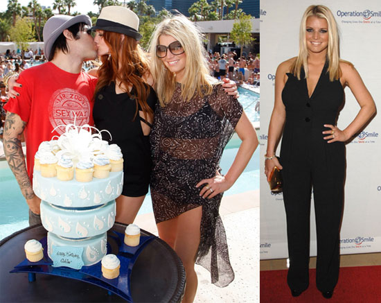Photos of Jessica Simpson In A Bikini And Coverup At Ashlee Simpson's Birthday Party in Vegas