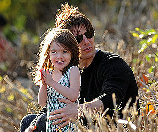 Slide Photo of Tom Cruise and Suri at the Charles River Basin