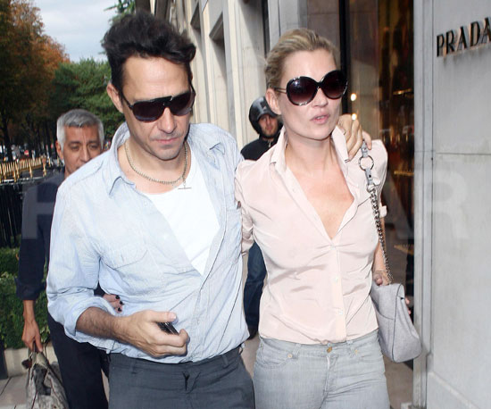 Slide Photo of Kate Moss and Jamie Hince Shopping in Paris