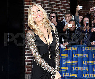 Slide Photo of Sienna Miler Outside The Late Show