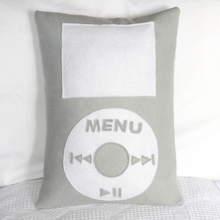 Handmade Recycled Felt iPod Pillow Cover From Etsy