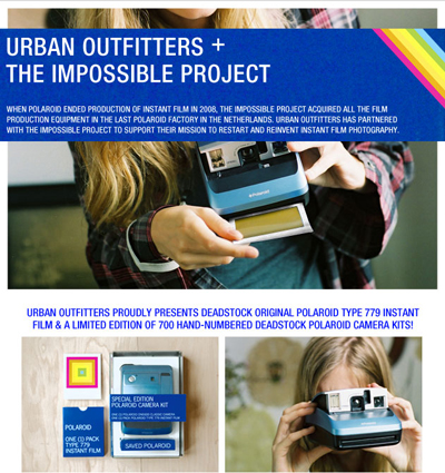 The Impossible Project to Sell Polaroid Deadstock at Urban Outfitters