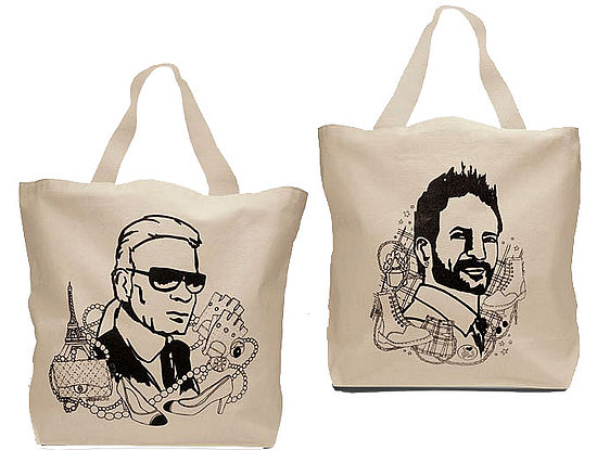 Simply Fab: Karl and Marc Canvas Totes