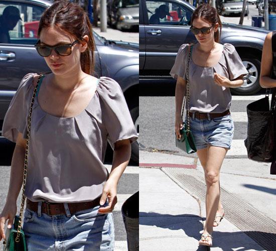 Photo of Rachel Bilson Wearing Denim Shorts in Los Feliz, LA