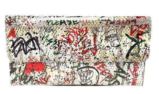 Carlos Falchi's Girl Graffitis His Bags