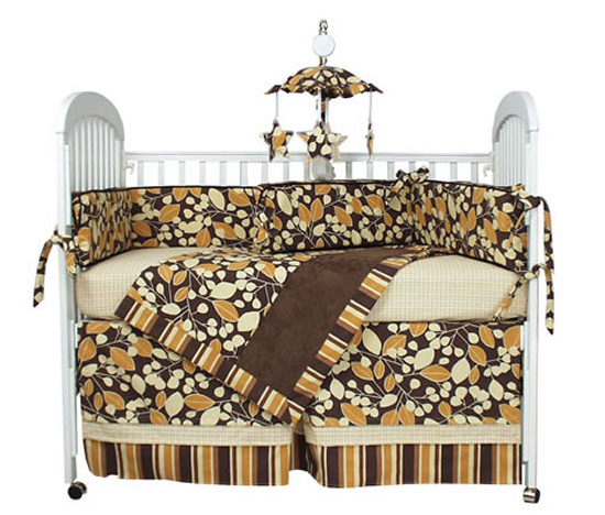 Cocoa Orange Crib Linens