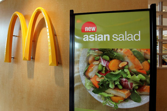 Fat and Calorie Counts in Fast Food Salads From Arby's, McDonald's, and More