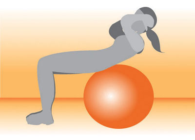 Increase the Challenge: Crunches on Exercise Ball