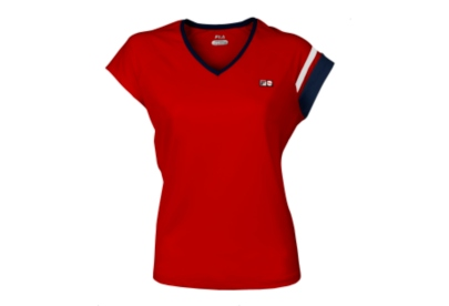 Heritage Cap Sleeve Top, Red, $48