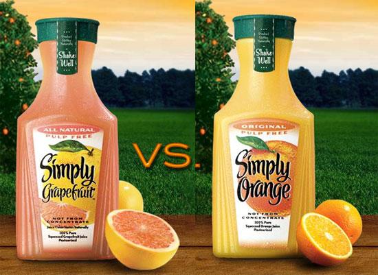 Juice It: Grapefruit vs. Orange