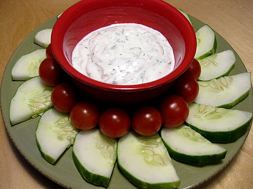 Snack Attack: Nonfat Yogurt Dill Dip and Veggies