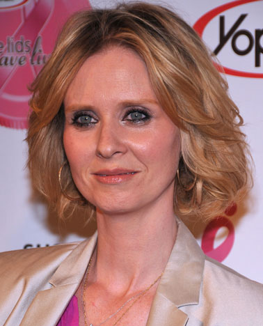 """In 2008, Cynthia Nixon revealed that she battled breast cancer and offered some advice to other women: """"Talk with your doctor, make healthy lifestyle choices and most importantly, know your body as that can make all the difference in the world."""""""