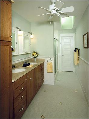 After:  Master Bathroom (formerly attic)