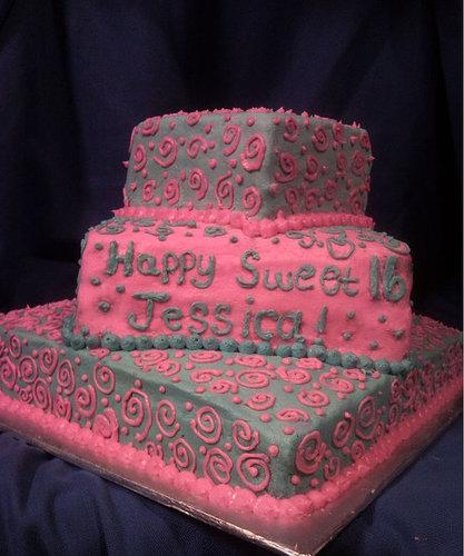 Sweet 16 Swirl Cake