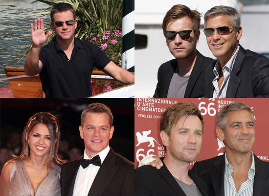 Photos of Matt Damon, Ewan McGregor, George Clooney at 2009 Venice Film Festival