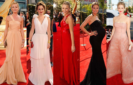 Photos of Cat Deeley, Leighton Meester, Blake Lively, Heidi Klum, Drew Barrymore, Ricky Gervais, Justin Timberlake at Emmys 2009